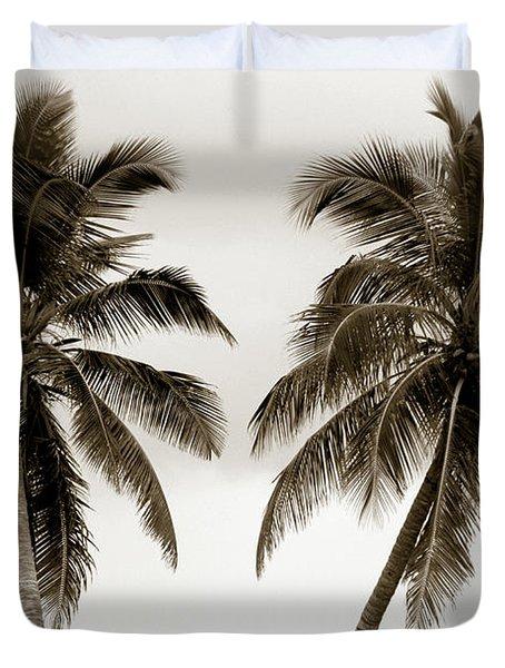 Dancing Palms Duvet Cover by Susanne Van Hulst