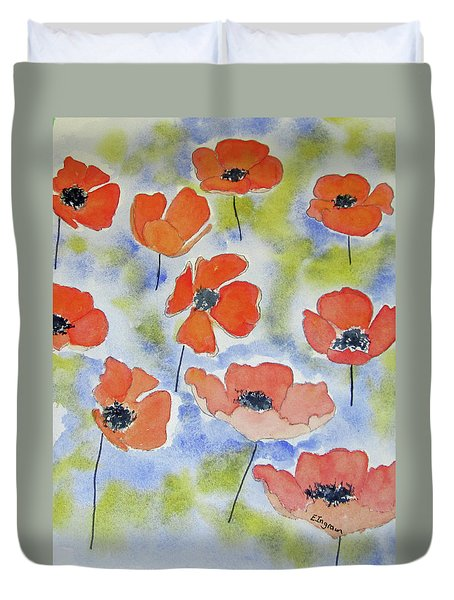 Dancing Poppies Duvet Cover