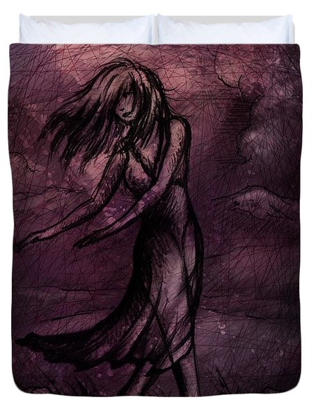 Dancing Duvet Cover by Rachel Christine Nowicki