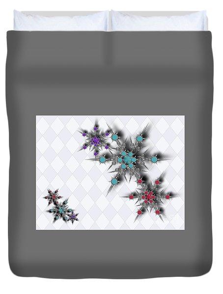 Dancing Snowflakes Duvet Cover