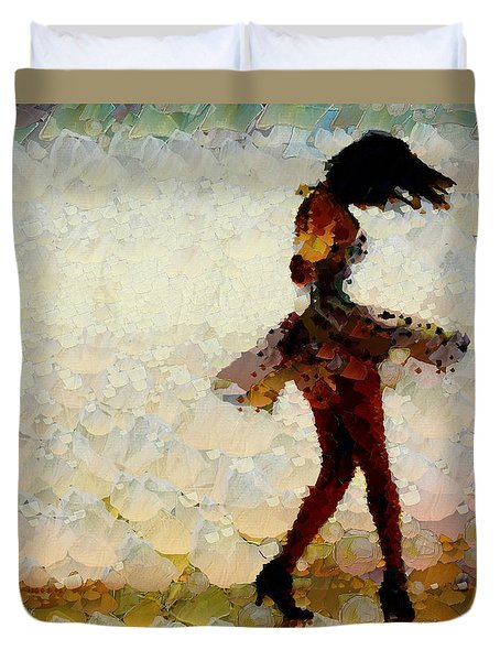 Dancing The Past Away - Ballerina Duvet Cover by Sir Josef - Social Critic -  Maha Art
