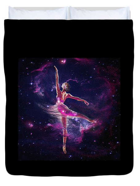 Duvet Cover featuring the digital art Dancing The Universe Into Being 2 by Jane Schnetlage