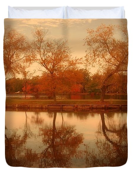 Dancing Trees - Lake Carasaljo Duvet Cover