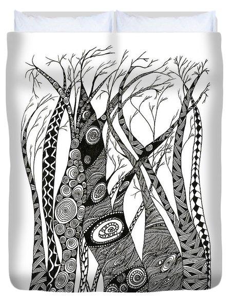 Dancing Trees Duvet Cover