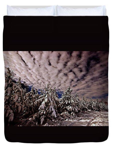 Dancing Trees  Duvet Cover by John Harding