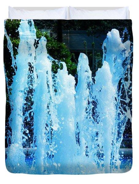 Dancing Waters Blue Duvet Cover