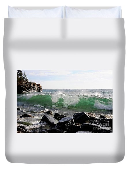 Dancing Waves Duvet Cover