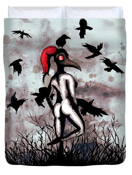 Dancing With Crows Duvet Cover