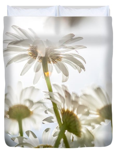 Duvet Cover featuring the photograph Dancing With Daisies by Aaron Aldrich