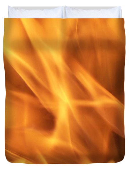 Duvet Cover featuring the photograph Dancing With Fire by Betty Northcutt