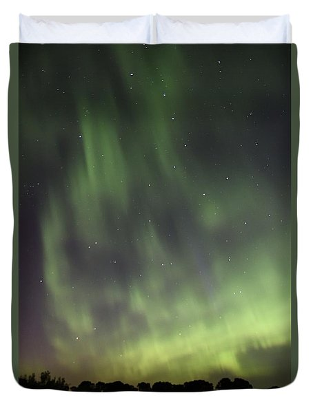 Duvet Cover featuring the photograph Dancing With The Dipper by Larry Ricker