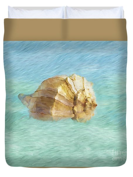 Duvet Cover featuring the photograph Dancing With The Sea by Betty LaRue