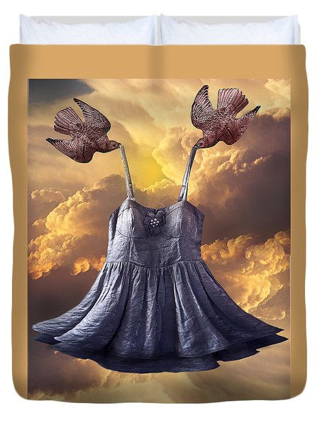 Dancing With The Stars Duvet Cover by Larry Butterworth