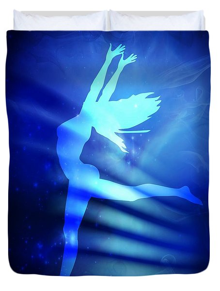 Dancing Woman Duvet Cover