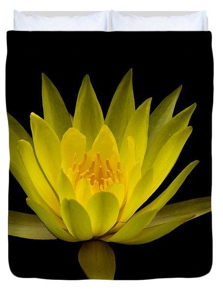 Dancing Yellow Lotus Duvet Cover