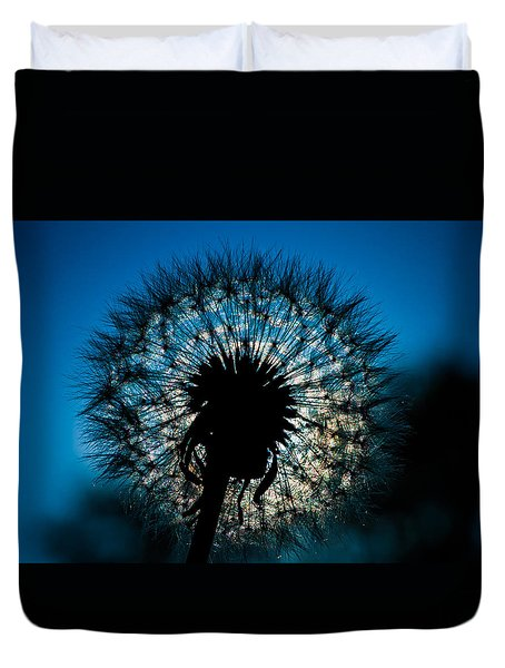 Duvet Cover featuring the photograph Dandelion Dream by Jason Moynihan