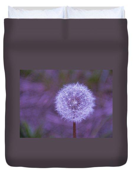 Dandelion Geometry Duvet Cover