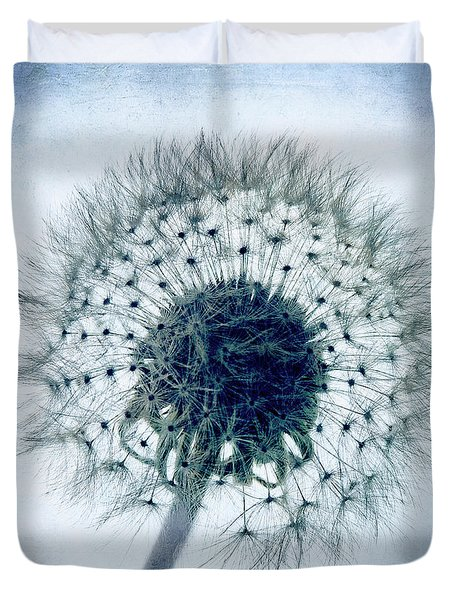 Dandelion In Blue Duvet Cover by Tamyra Ayles
