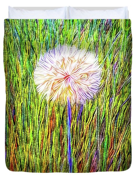 Dandelion In Glory Duvet Cover by Joel Bruce Wallach