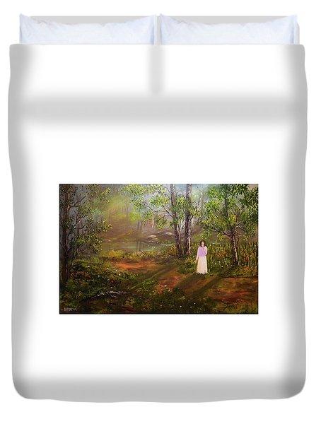 Dandelion In The Breez Duvet Cover