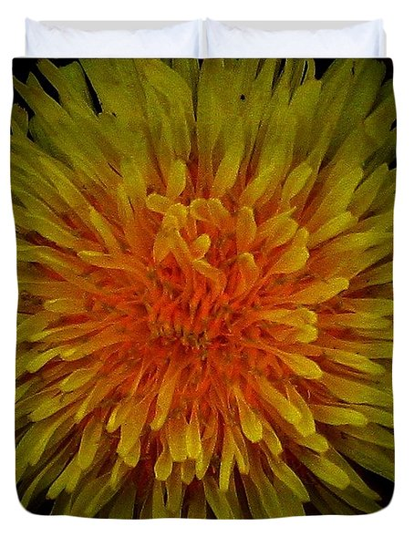 Dandelion Duvet Cover by Mikki Cucuzzo