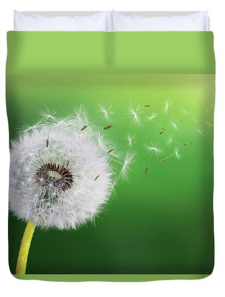 Duvet Cover featuring the photograph Dandelion Seed by Bess Hamiti