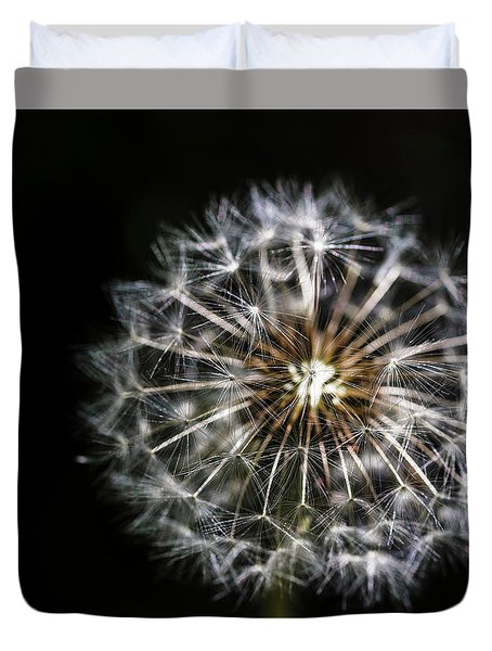 Duvet Cover featuring the photograph Dandelion Seed by Darcy Michaelchuk