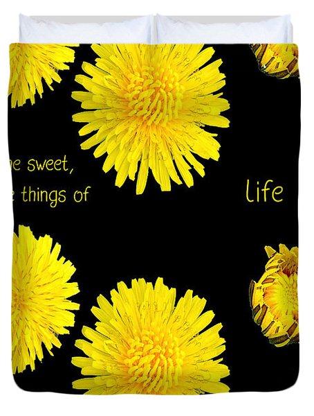 Dandelion Simplicity Duvet Cover
