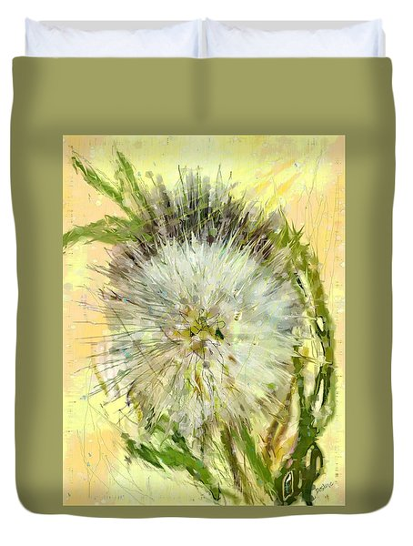 Dandelion Sunshower Duvet Cover