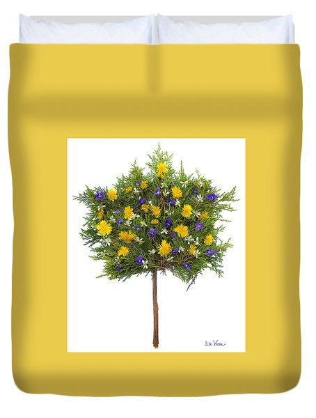 Dandelion Violet Tree Duvet Cover by Lise Winne