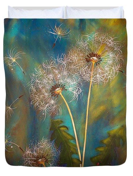 Dandelion Wishes Duvet Cover