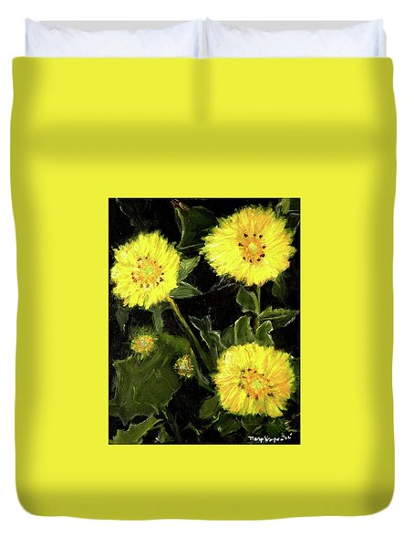 Dandelions By Mary Krupa  Duvet Cover by Bernadette Krupa