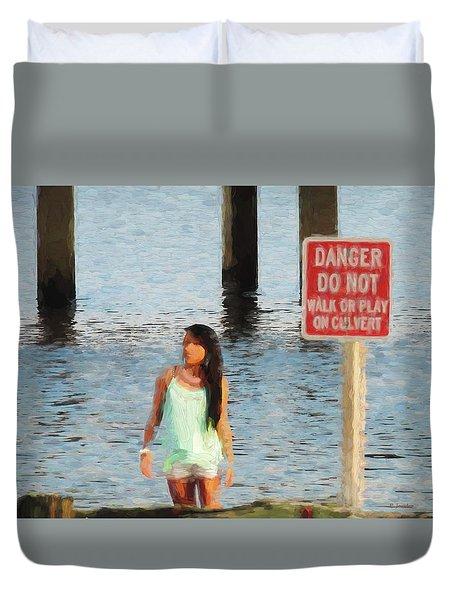 Danger Duvet Cover