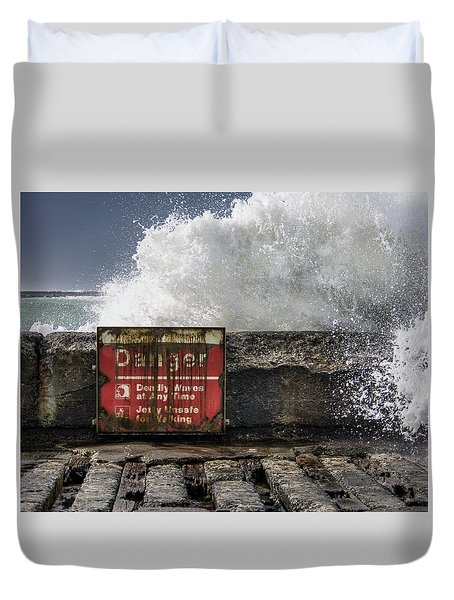 Danger Duvet Cover