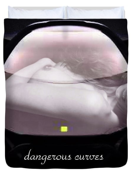 Dangerous Curves Duvet Cover