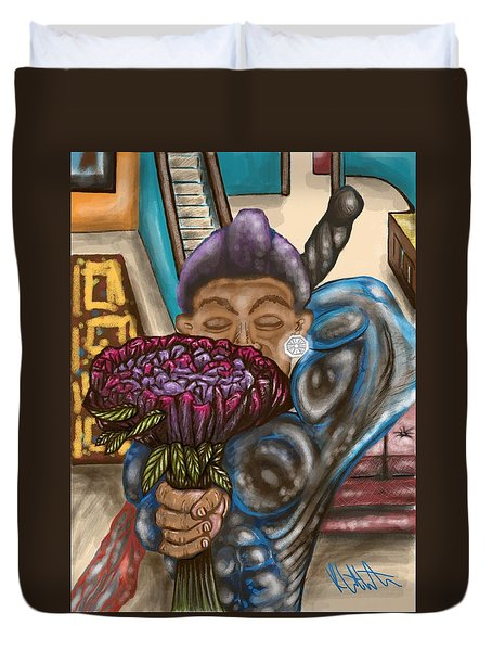 Dangerous Flowers Duvet Cover