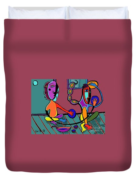 Dangerous Friends Duvet Cover