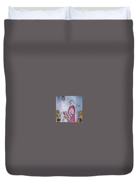 Daniel And Lion's Den Duvet Cover