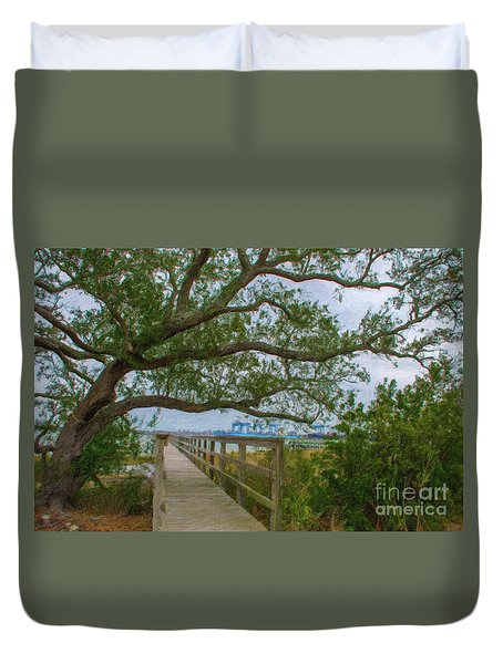 Daniel Island Time Duvet Cover