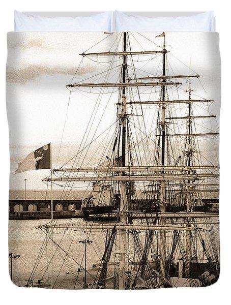 Danish Training Ship Duvet Cover by Gaspar Avila