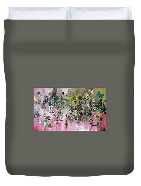 Duvet Cover featuring the painting Dante's Divine Valentine by Laurie Maves ART