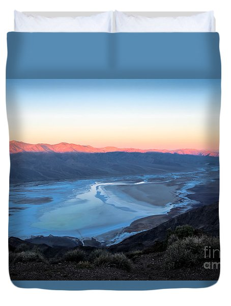 Dante's View At Sunrise Duvet Cover