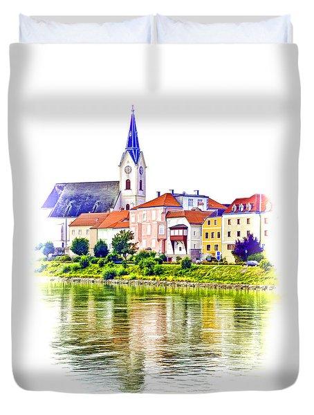 Danube Village Duvet Cover by Dennis Cox WorldViews