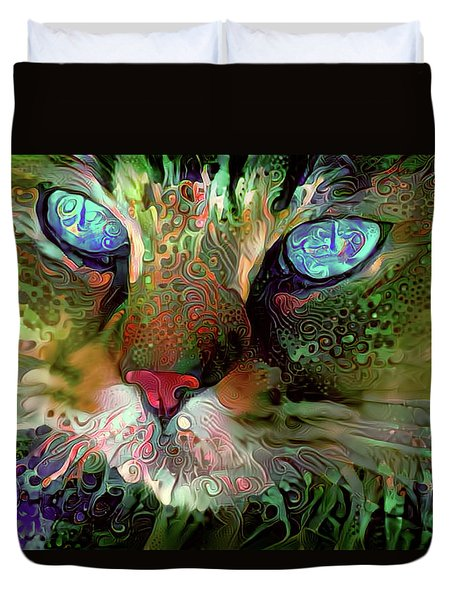 Darby The Long Haired Cat Duvet Cover