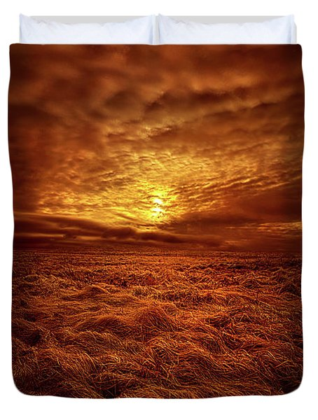 Duvet Cover featuring the photograph Dare I Hope by Phil Koch
