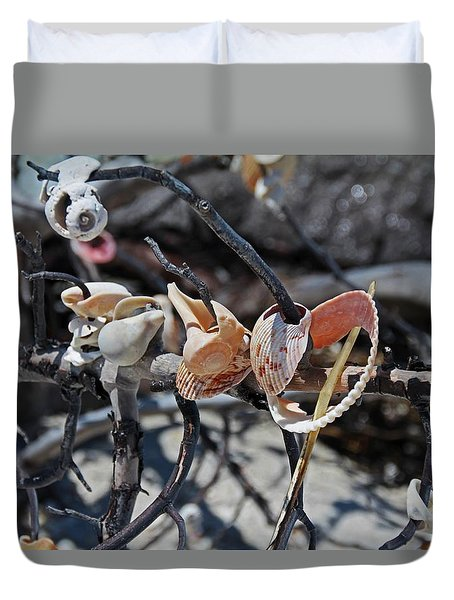 Duvet Cover featuring the photograph Dare To Touch by Michiale Schneider