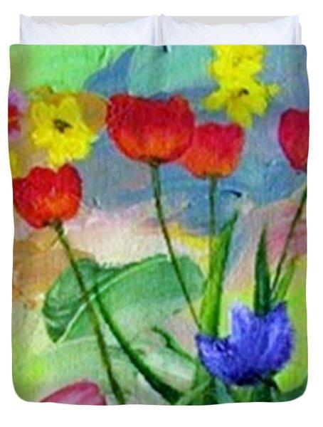 Daria's Flowers Duvet Cover by Jamie Frier