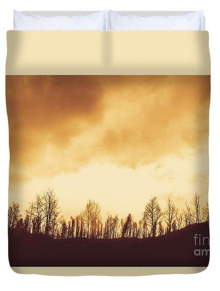 Dark Afternoon Woodland Duvet Cover