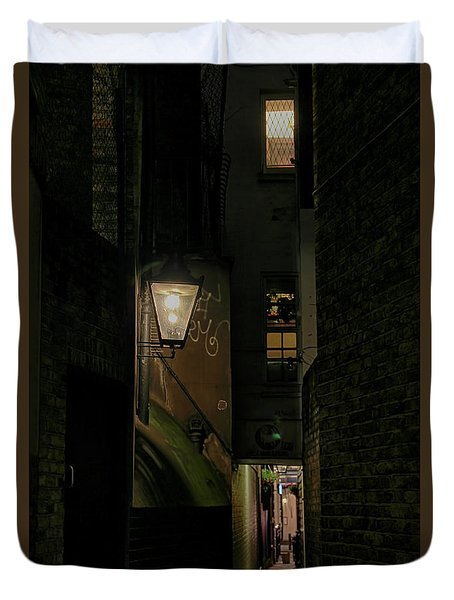 Dark Alley London Duvet Cover