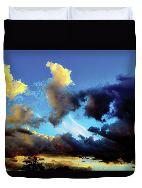 Dark And Dusty Skies  Duvet Cover